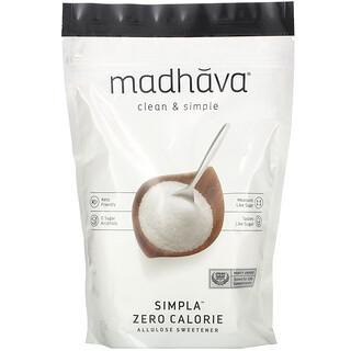 Madhava Natural Sweeteners, Clean&Simple,Simpla,零卡路里阿洛酮糖甜味劑,12 盎司(340 克)