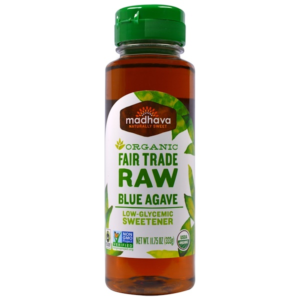 Madhava Natural Sweeteners, Organic Fair Trade Raw Blue Agave, 11.75 oz (333 g) (Discontinued Item)
