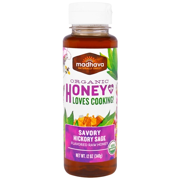 Madhava Natural Sweeteners, Organic Honey Loves Cooking, Savory Hickory Sage , 12 oz (340 g) (Discontinued Item)