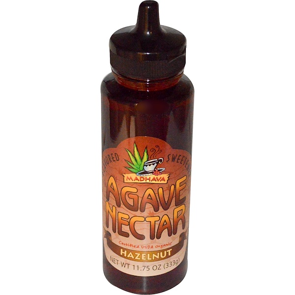 Madhava Natural Sweeteners, Organic Agave Nectar, Hazelnut, 11.75 oz (333 g) (Discontinued Item)