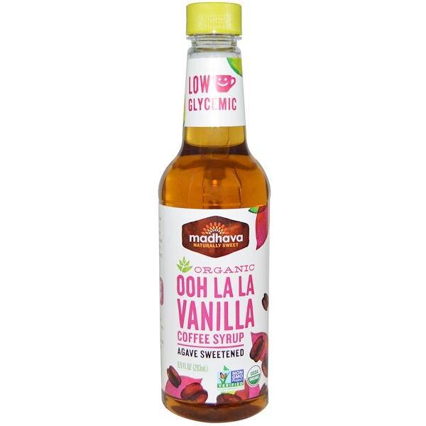 Madhava Natural Sweeteners, Organic Ooh La La Vanilla Coffee Syrup, 9.9 fl oz (293 ml) (Discontinued Item)