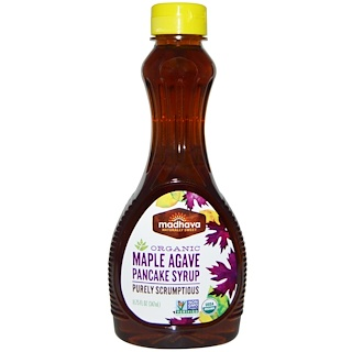 Madhava Natural Sweeteners, Organic Maple Agave Pancake Syrup , 11.75 fl oz (347 ml)