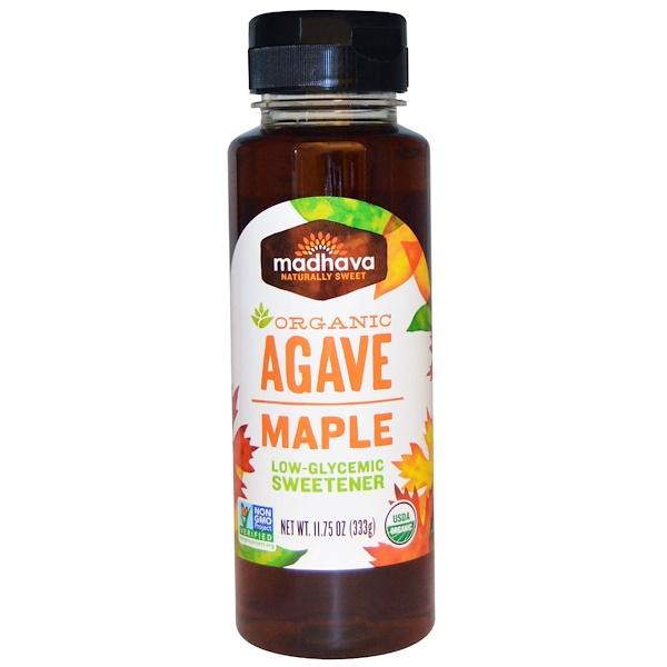 Madhava Natural Sweeteners, Органическая агава, кленовый сироп, 333 г (11,75 унций) (Discontinued Item)