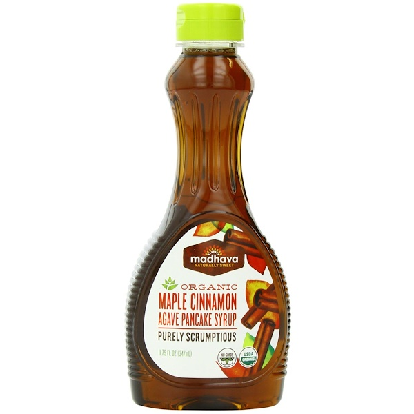 Madhava Natural Sweeteners, Organic Maple Cinnamon Agave Pancake Syrup, 11.75 fl oz (347 ml) (Discontinued Item)
