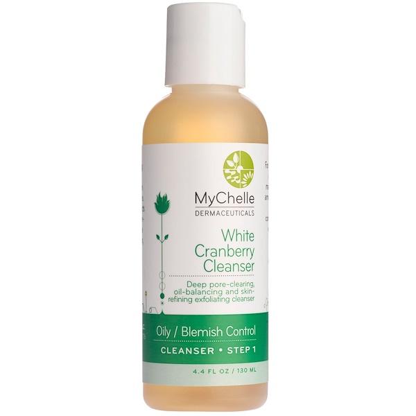 MyChelle Dermaceuticals, White Cranberry Cleanser, Oily / Blemish Control, Step 1, 4.4 fl oz (130 ml) (Discontinued Item)