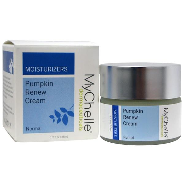 MyChelle Dermaceuticals, Pumpkin Renew Cream, Moisturizers, Normal, 1.2 fl oz (35 ml)