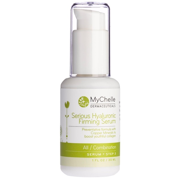 MyChelle Dermaceuticals, Serious Hyaluronic Firming Serum, All/Combination, Step 3, 1 fl oz (30 ml) (Discontinued Item)