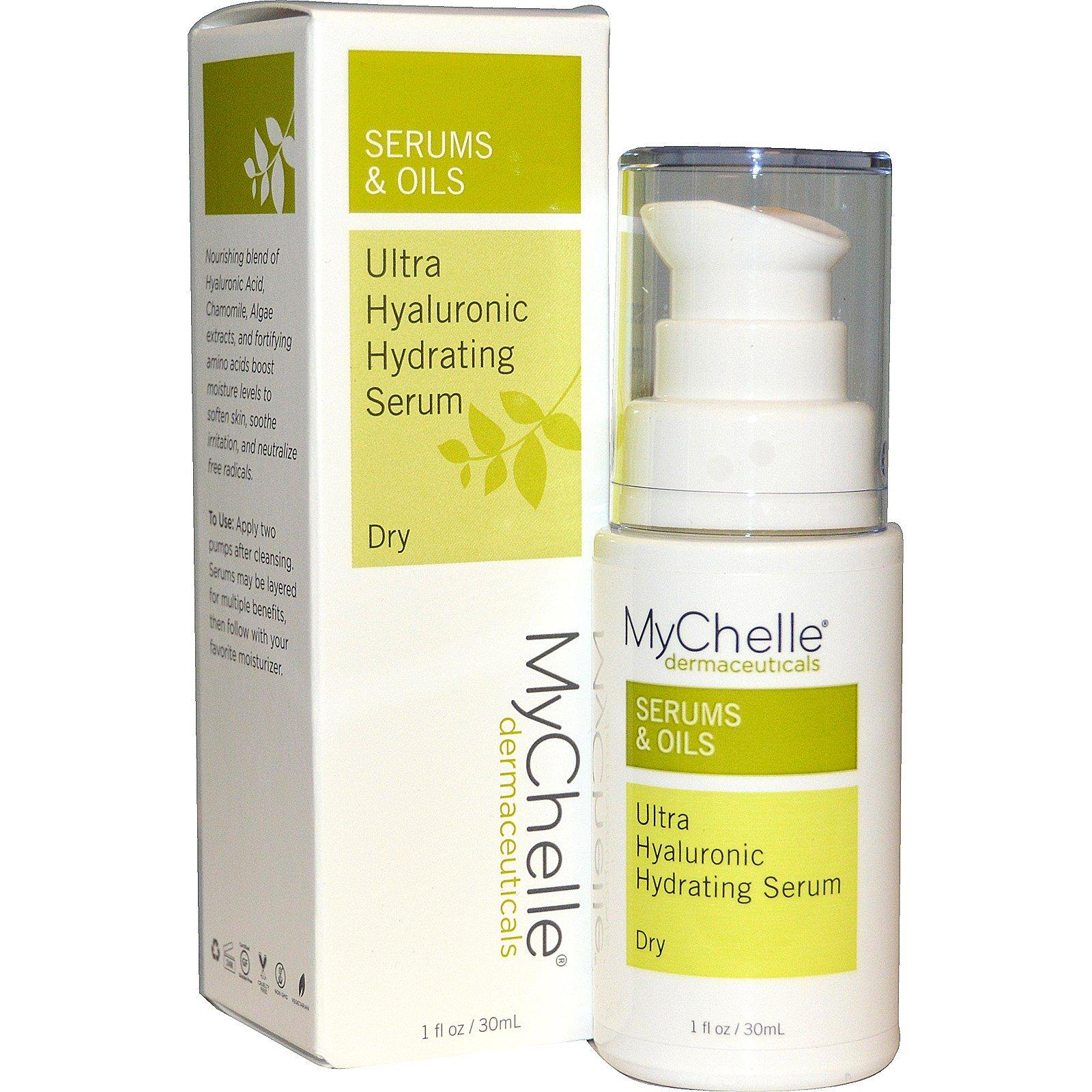 de0bd98f8f8 MyChelle Dermaceuticals, Ultra Hyaluronic Hydrating Serum, Dry, Step 3, 1  fl oz (30 ml)