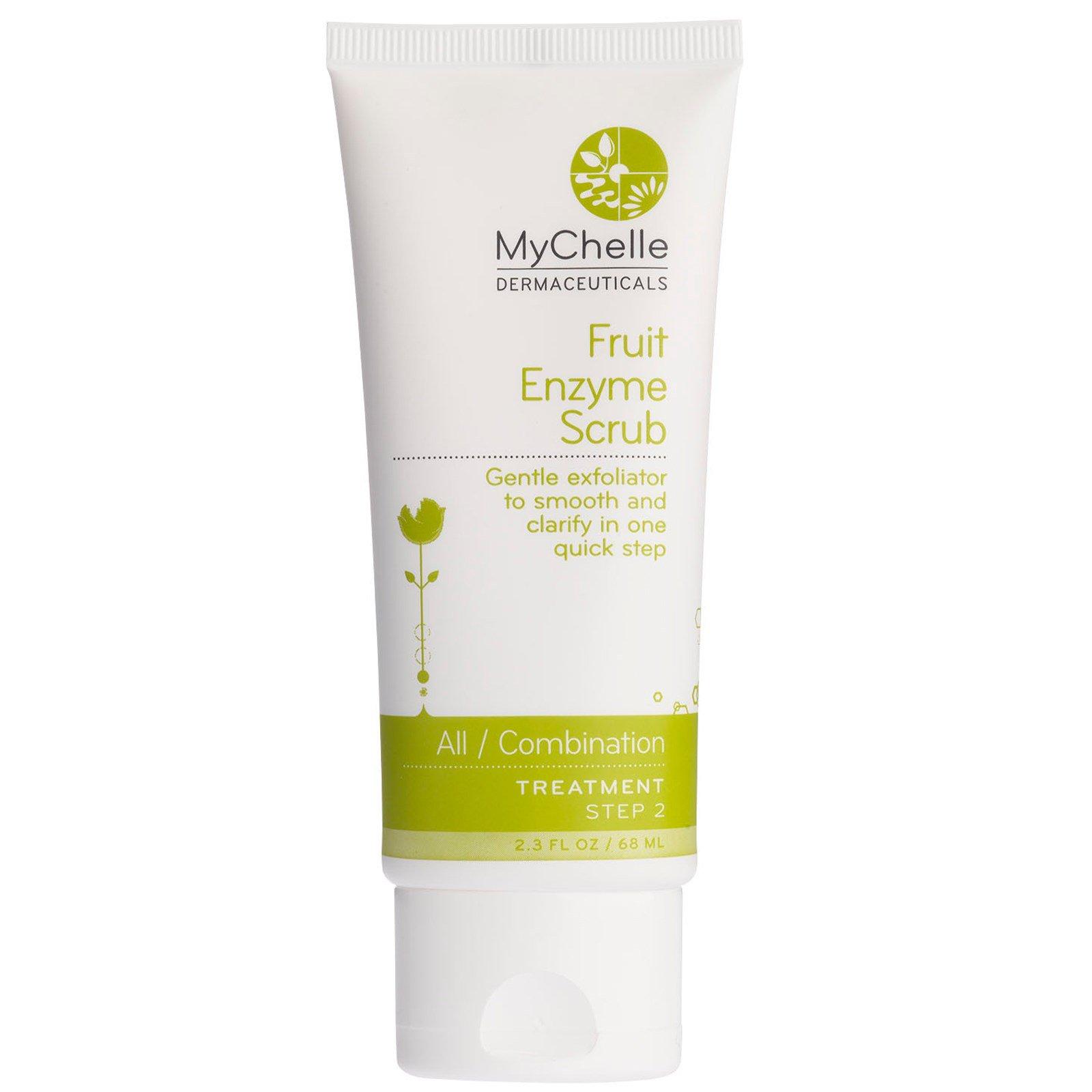 MyChelle Dermaceuticals, Фруктовый ферментный скраб, для любого/смешанного типа кожи, лечебный, стадия 2, 2.3 жидких унции (68 мл)