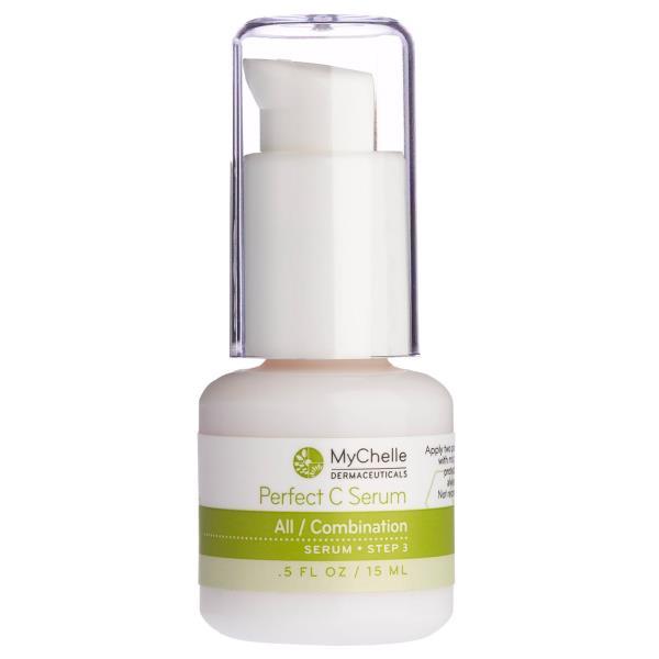 MyChelle Dermaceuticals, パーフェクトCセラム、全ての肌 /コンビネーション肌、ステップ3、0.5 fl oz (15 ml)