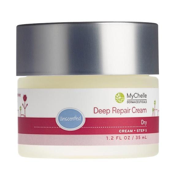 MyChelle Dermaceuticals, Deep Repair Cream, Unscented, 1.2 fl oz (35 ml) (Discontinued Item)