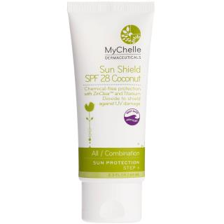 MyChelle Dermaceuticals, Sun Shield Coconut, SPF 28, All / Combination, Sun Protection, Step 6, 2.3 fl oz (68 ml)