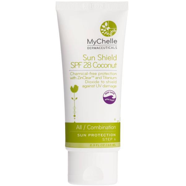 MyChelle Dermaceuticals, Sun Shield Coconut, SPF 28, All / Combination, Sun Protection, Step 6, 2.3 fl oz (68 ml)