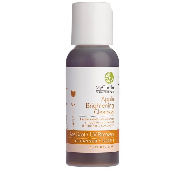 MyChelle Dermaceuticals, Apple Brightening Cleanser, Age Spot/UV Recovery, Step 1, 2.1 fl oz (61 ml) (Discontinued Item)