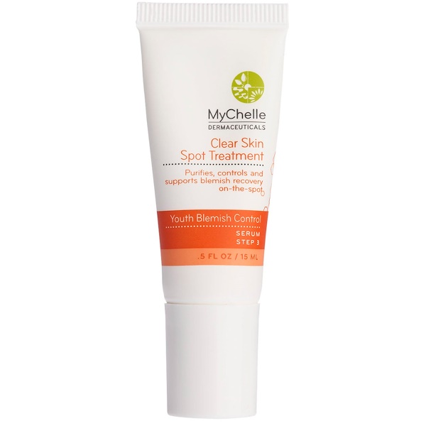 MyChelle Dermaceuticals, Clear Skin Spot Treatment, Youth Blemish Control, Serum, Step 3, 0.5 fl oz (15 ml) (Discontinued Item)