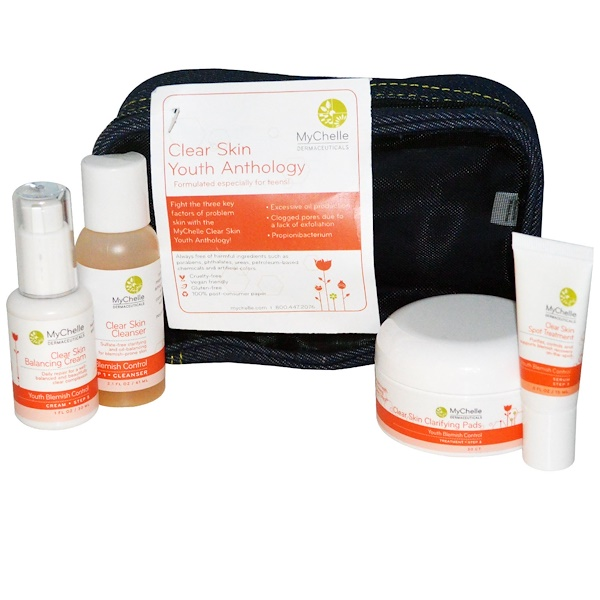 MyChelle Dermaceuticals, Clear Skin Youth Anthology, 4 Piece Kit (Discontinued Item)