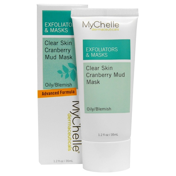 MyChelle Dermaceuticals, Exfoliators & Masks, Clear Skin Cranberry Mud Mask, Oily/Blemish, 1.2 fl oz (35 ml) (Discontinued Item)