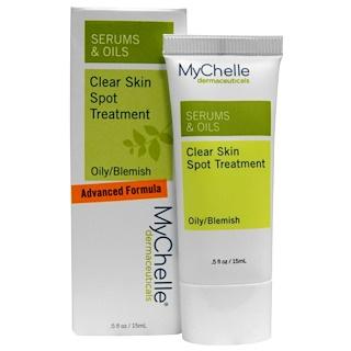 MyChelle Dermaceuticals, セラム & オイル、 クリア スキンスポットトリートメント、 オイリー/傷、 .5 fl oz (15 ml)