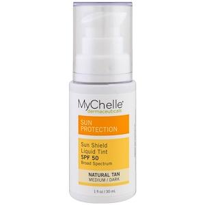 Май Шелл Дермасьютикалс, Sun Shield Liquid Tint, SPF  50, Natural Tan, 1 fl oz (30 ml) отзывы