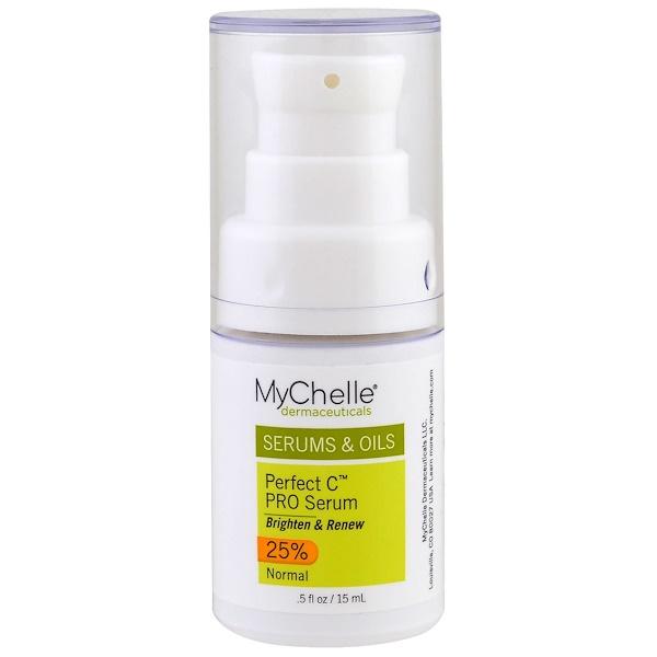 MyChelle Dermaceuticals, Профессиональная сыворотка Perfect C, нормальная, 0,5 жидких унций (15 мл)