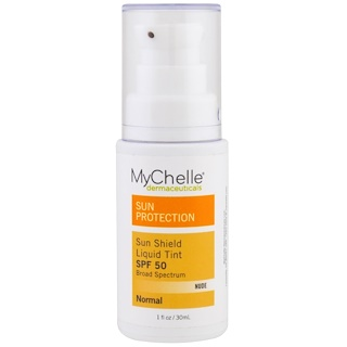 MyChelle Dermaceuticals, Sun Shield Liquid Tint SPF 50, Normal, Nude, 1 fl oz (30 ml)