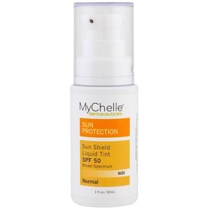 Май Шелл Дермасьютикалс, Sun Shield Liquid Tint SPF 50, Normal, Nude, 1 fl oz (30 ml) отзывы покупателей