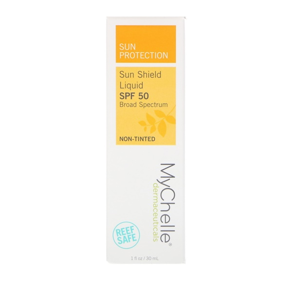 MyChelle Dermaceuticals, Sun Shield Liquid, SPF 50, Non-Tinted, 1 fl oz (30 ml) (Discontinued Item)