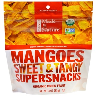 Made in Nature, Organic Mangos Sweet & Tangy Supersnacks, 3 oz (85 g)