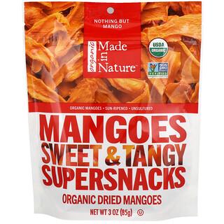 Made in Nature, オーガニック乾燥マンゴー、甘くピリッとした味のスーパースナック、3 oz (85 g)