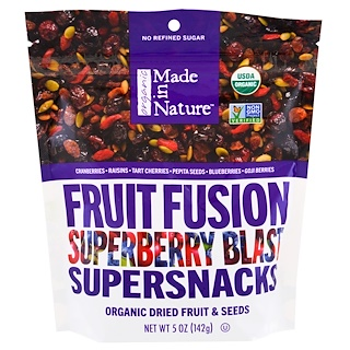 Made in Nature, Organic Fruit Fusion Superberry Blast Supersnacks, 5 oz (142 g)