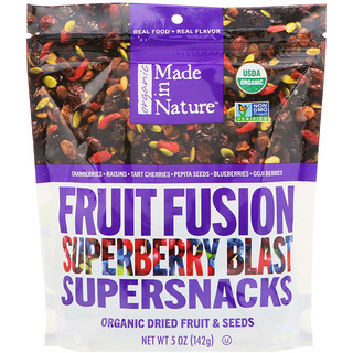 Made in Nature, Organic Fruit Fusion, Superberry Blast Supersnacks, 5 oz (142 g)