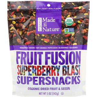 Made in Nature, オーガニックフルーツフュージョン・スーパーベリーブラスト・スーパースナック、5 oz (142 g)