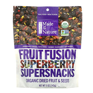 Made in Nature, Organic Fruit Fusion, Superberry Blast Supersnacks, 5 oz (142 ج)