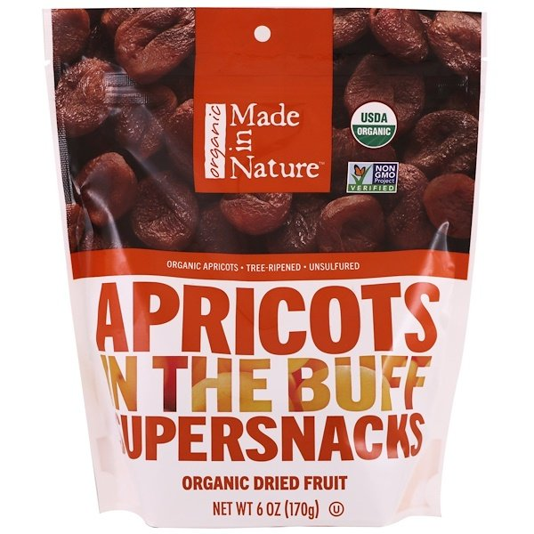 Made in Nature, Organic, Apricots In The Buff Supersnacks, 6 oz (170 g)
