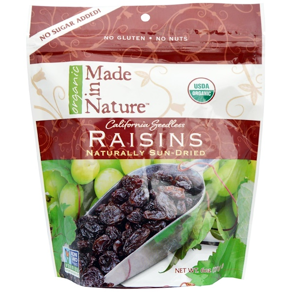 Made in Nature, Organic Raisins, 6 oz (170 g) (Discontinued Item)
