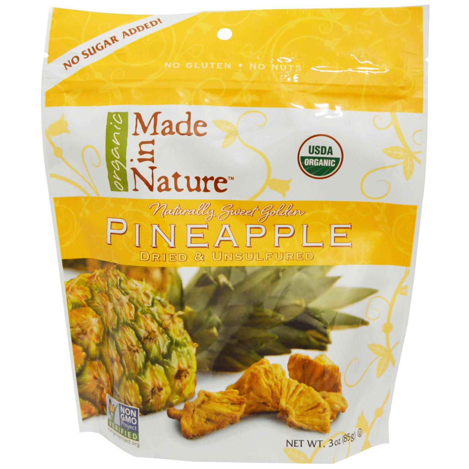 Made in Nature, Органический ананас, 85 г