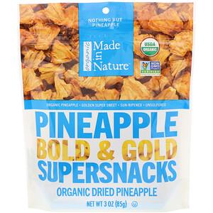 Маде ин натуре, Organic Dried Pineapple, Bold & Gold Supersnacks, 3 oz (85 g) отзывы