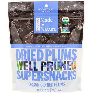 Made in Nature, Bio trockene Pflaumen, gute Zwetschgen- Supersnacks, 170 g