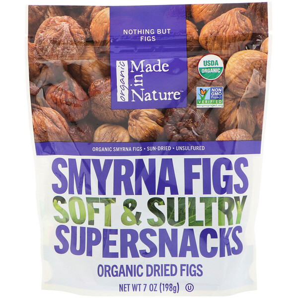 Made in Nature, Organic Dried Smyrna Figs, Soft & Sultry Supersnacks, 7 oz (198 g)