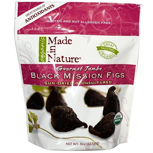 Made in Nature, Органический черный инжир, 8 унций (227 г) (Discontinued Item)