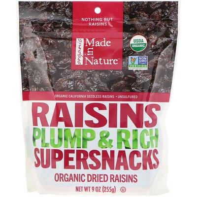 Купить Made in Nature Органический изюм, крупный и сладкий суперснек, 9 унций (255 г)
