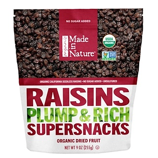 Made in Nature, Organic Raisins, 9 oz (255 g)