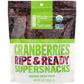 Made in Nature, Cranberries Ripe & Ready Supersnacks, 5 oz (142 g)