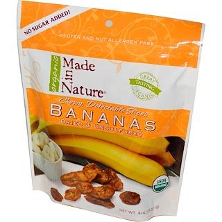 Made in Nature, Organic Bananas, Dried & Unsulfured, 4 oz (113 g)