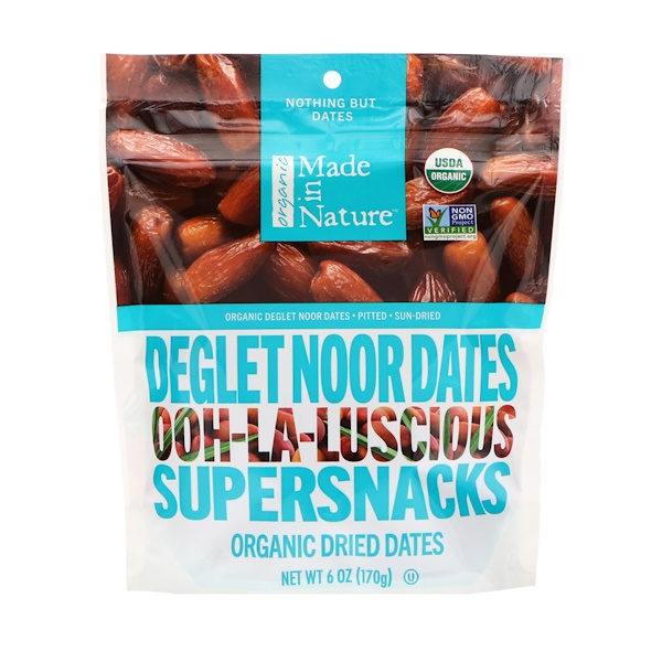 Made in Nature, Dátiles Deglet Noor orgánicos, Ooh-La-Liciosos Súper bocadillos, 6 oz (170 g) (Discontinued Item)