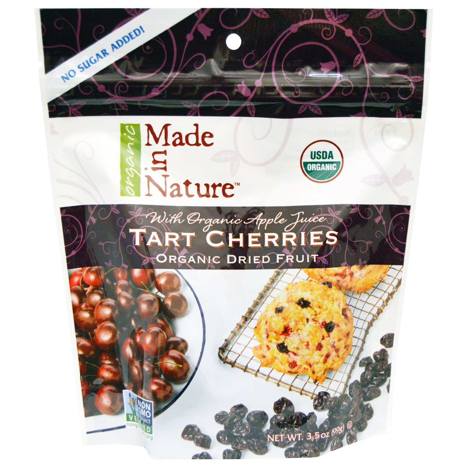 Made In Nature Organic Dried Fruit Tart Cherries With Apple Juice 35 Oz 99 G Discontinued Item