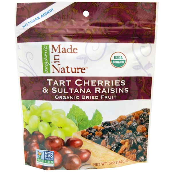 Made in Nature, Organic Dried Fruit, Tart Cherries & Sultana Raisins, 5 oz (142 g) (Discontinued Item)