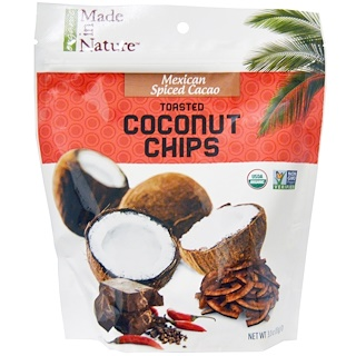 Made in Nature, Organic Toasted Coconut Chips, Mexican Spiced Cacao, 3.0 oz (85 g)