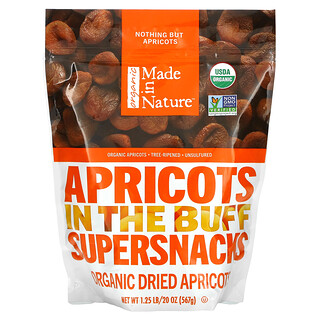 Made in Nature, Organic Dried Apricots, Non-GMO Supersnacks, 1 lb (454 g)