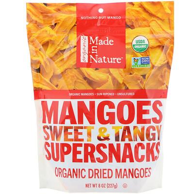 Купить Made in Nature Органические сушеные плоды манго, сладкие и пикантные суперснеки, 227г (8 унций)